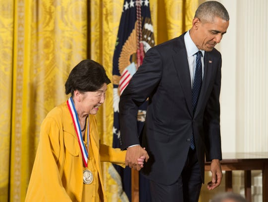 President Barack Obama awards the National Medal of