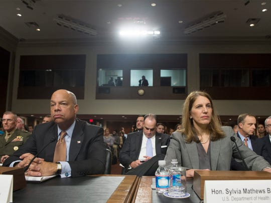 Homeland Security Secretary Jeh Johnson and Health