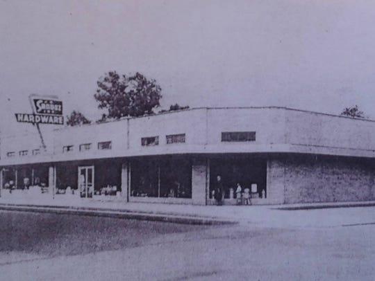 The third J.B. Sandoz Hardware Store, photo taken in