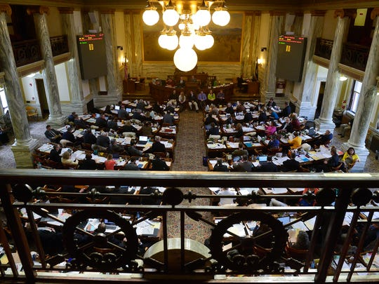 Floor of the House in session during the 2015 State Legislature at the State Capitol Building in Helena on Tuesday, March 31, 2015.