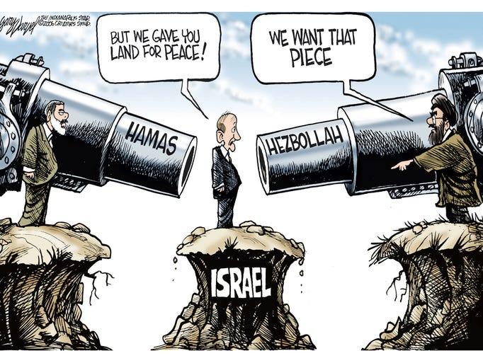 Ehud Olmert discovers a new meaning to the peace process
