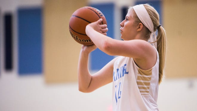 Casie Newton finished with 13 points in Daniel's 56-45 win over Wren Friday in Central.
