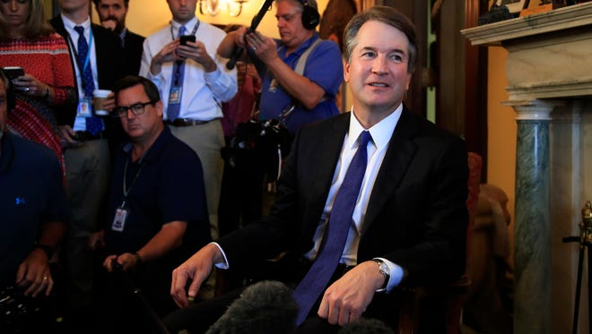 Supreme Court nominee Brett Kavanaugh has been making the rounds of Senate offices in advance of his confirmation hearings later this summer or fall.