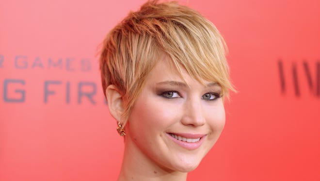Actress Jennifer Lawrence attends the 'Hunger Games: Catching Fire' New York premiere on Nov. 20, 2013.