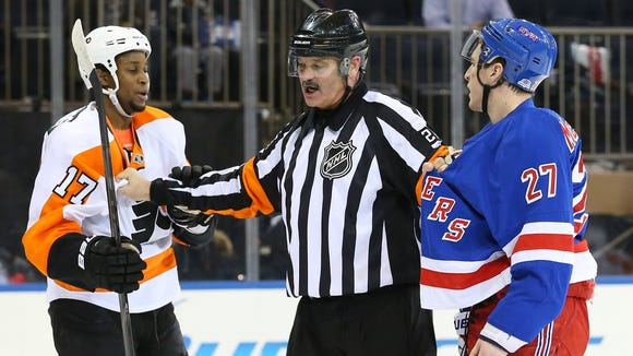 The Flyers and Rangers will begin their series Thursday in New York.