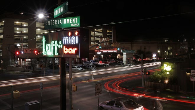 Bars and restaurants in the Cincinnati Entertainment District closed Saturday night due to a two-hour power outage caused by metallic balloons.