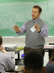 Todd Driskell, a health teacher at Male High School talked to his class about drugs and addiction.