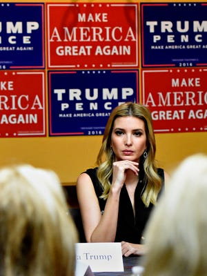 Ivanka Trump listens during a Women Business Leaders Roundtable discussion at the Clarion Hotel in New Cumberland, Sunday, Nov. 6, 2016. Dawn J. Sagert photo