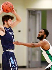 "York College coach Matt Hunter says Jason Bady is a ""shutdown defender"" who usually guards the opposing team's best guard."