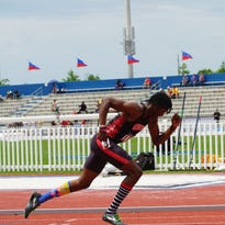 A Southern Utah runner competes at the NCAA West Regional Track and Field Prelims in Lawrence, Kansas on Friday.