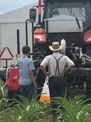 Large farm equipment was a major attraction for showgoers