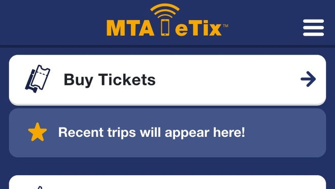 When riders open up the MTA eTix app, this is what they will see.