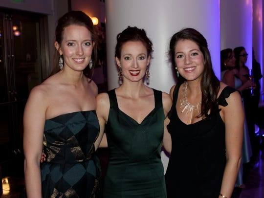Chairs Abby Simmons, Audrey Guest and Katherine McDonald at the 2017 Symphony Ball Late Party at the Schermerhorn Symphony Center, Dec. 9, 2017.