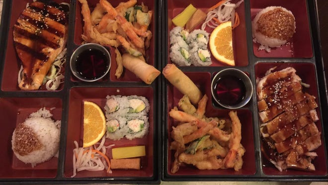 A bento box is a great option during lunchtime at Sakura.