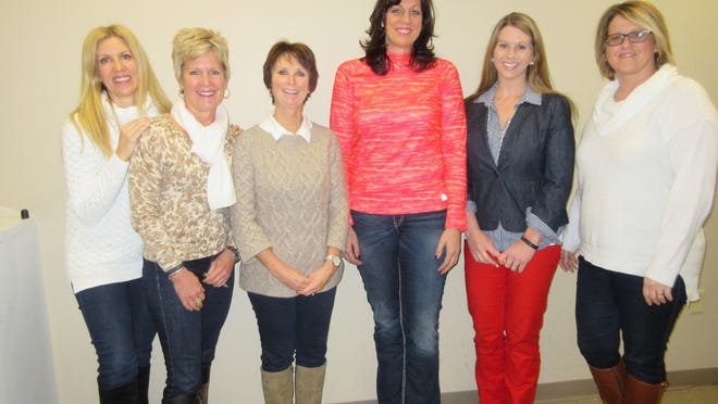Service League Tour of Fashion committee members, from left: Amy Jarvis, Kelli Little, Gwen Gilles and Judy Thiel; along with Julie Lenz, Tour co-chair; and Stacey Mertens, 2015 Tour chair.
