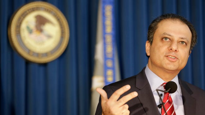 U.S. Attorney Preet Bharara addresses members of the media regarding the arrest of State Assembly Speaker Sheldon Silver during a news conference Jan. 21 in Manhattan.
