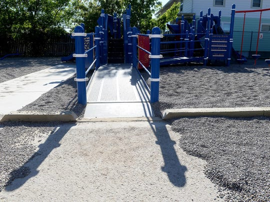 Whittier Elementary School has a wheelchair-accessible play structure, but it's not always available to the community at large.