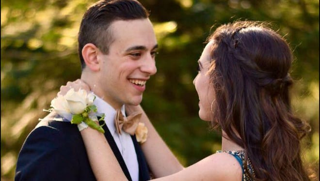 Montgomery High School sweethearts Chase Coram and Julia Niehoff are pictured before their prom in 2017. Coram, 19, was killed in a car crash on May 19. His services will be held on May 23 at Hillsborough Funeral Home.