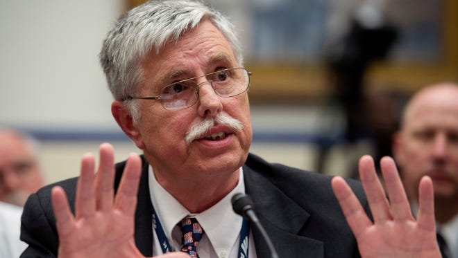 Amtrak President and CEO Joseph Boardman testifies on Capitol Hill in Washington Tuesday before the House Transportation and Infrastructure Committee oversight hearing of the Amtrak train derailment in Philadelphia