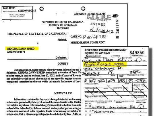 A criminal complaint, left, shows charges filed against