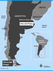 The missing Argentine navy submarine  was sailing from
