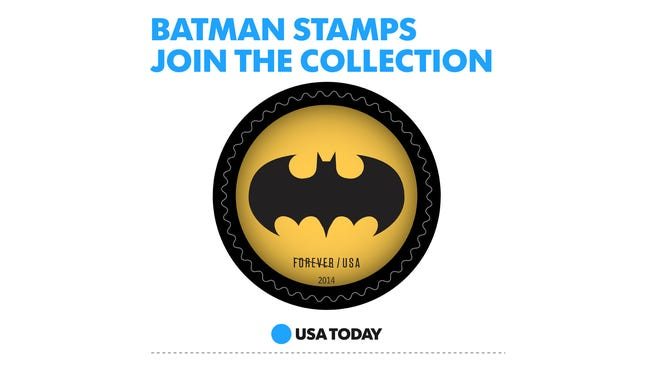Batman stamps join the collection