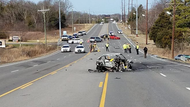 Two people are dead following a four-vehicle crash on Murfreesboro Pike on Jan. 31, 2017.