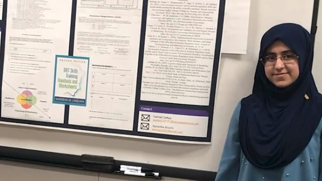 Fatimah Daffaie, about to start her senior year at Doherty Memorial High School in Worcester, took part in the High School Health Careers Program.