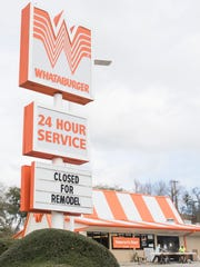 Both the KFC and Whataburger restaurants are closed for remodeling at the intersection of North 9th Avenue and Bayou Blvd. in Pensacola on Wednesday, January 25, 2017.  The Wendy's restaurant on North 9th Avenue is also closed for remodeling.