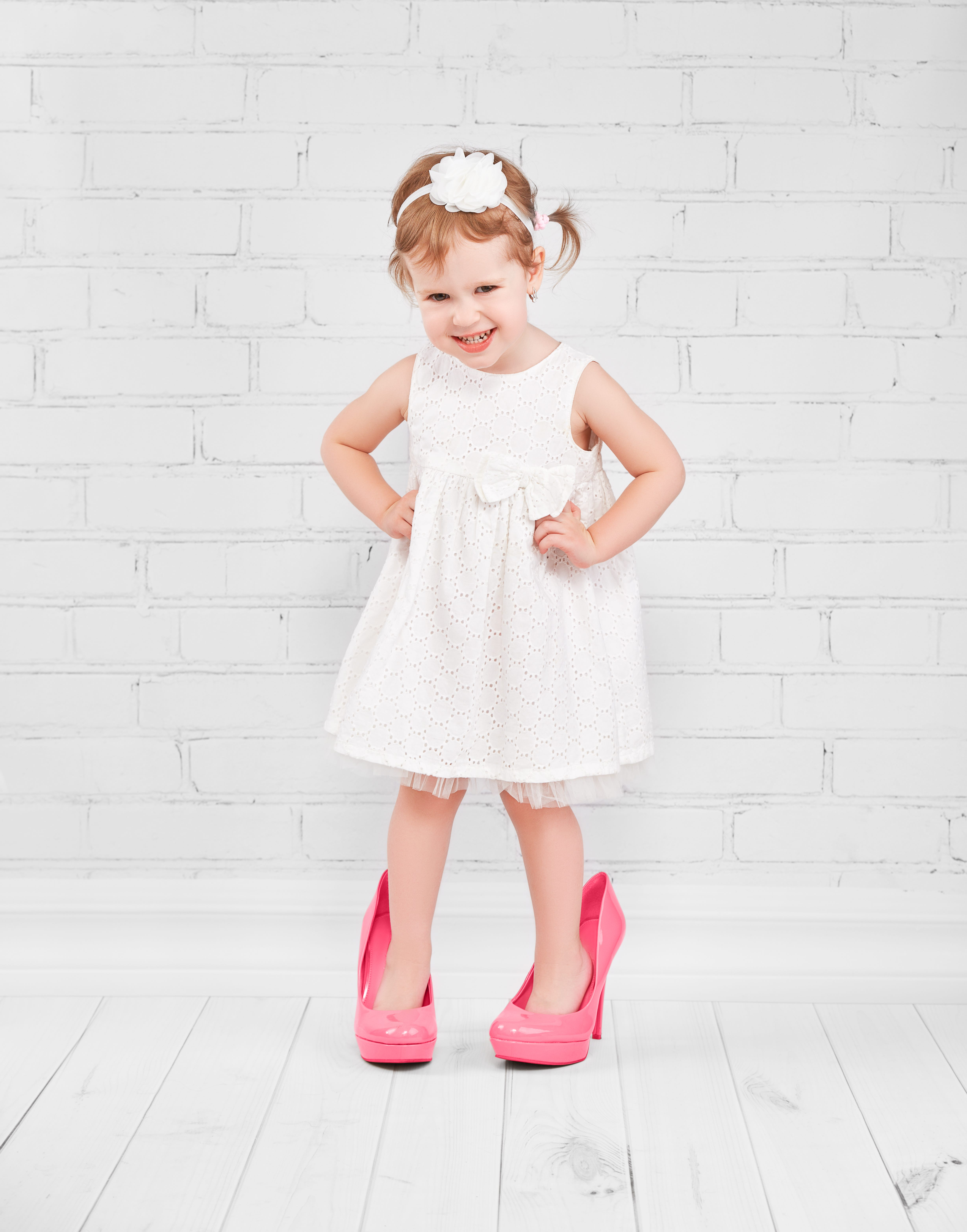 baby in high heels before she's walking