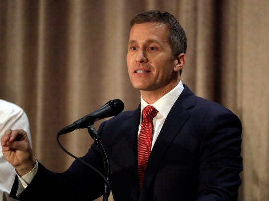 Republican gubernatorial candidate Eric Greitens speaks