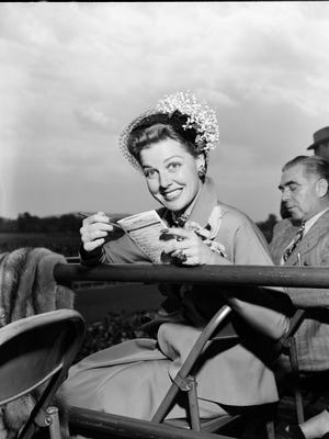 Movie star Ann Sheridan attended the Kentucky Derby.   May 5, 1951