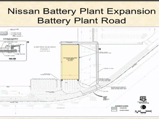 This rendering shows a battery plant expansion plan