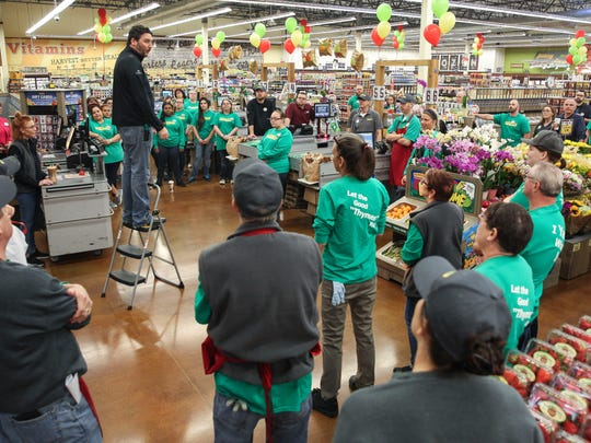 The employees of the new Fresh Thyme grocery store