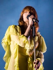 Florence and The Machine performs in 2016 at the Firefly Music Festival in Dover.