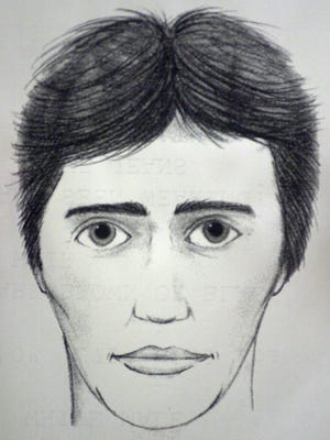 This is a drawing of a potential witness who is described as a white male, 25-35 years-old, 6-feet tall, weighing 175-200 pounds with dark brown or black hair that the Spartanburg, S.C. sheriff's office released during a news conference Wednesday, Dec. 10, 2003, in conection with the murders at the Super Bike Motor Sports in Chesnee on Nov. 6.(AP Photo/Mary Ann Chastain)