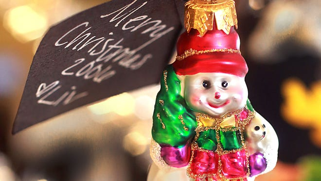 From the Leslie Bailey collection: A little snow man holiday ornament.