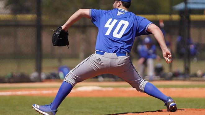 Ben Thomas is a pitcher for the Grand Valley State University baseball team.