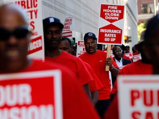 Detroit public safety unions 041014