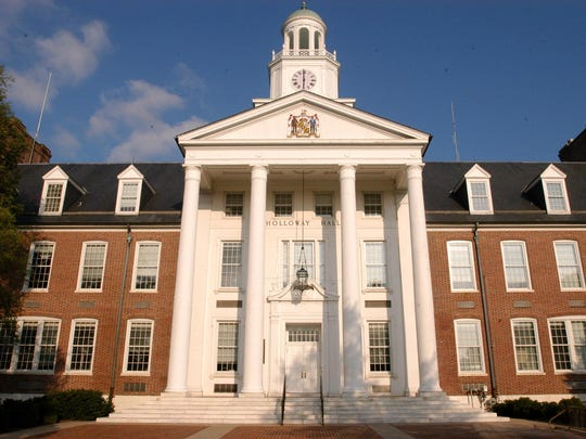 Holloway Hall is the landmark building of the Salisbury University campus.