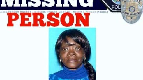 Shirley Mae Cassel in a missing person flier circulated by Santa Ana police in 2017