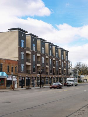 The Venue at East Town, the Gillespie Company's mixed-use development project on E. Michigan Avenue in Lansing. It features first floor commercial space, and residential units on the top three floors.