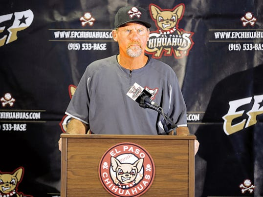 The El Paso Chihuahuas baseball team officially introduced the team's new field manager, Jamie Quirk. Quirk replaced former field manager Pat Murphy after he was made the interim manager for the San Diego Padres.