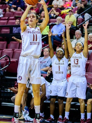 Maria Conde (11) is one of four Florida State players hailing from overseas.