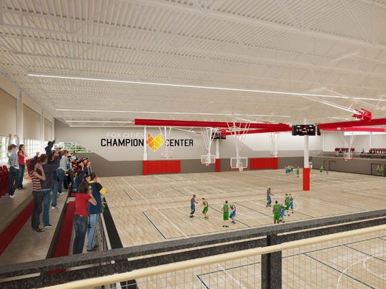 The Champion Center in Grand Chute will offer hard courts for basketball and volleyball.