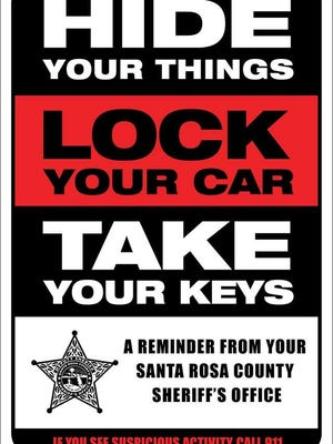 The Santa Rosa County Sheriff's Office has ceased the practice of placing informational cards in unlocked vehicles after receiving complaints from the public