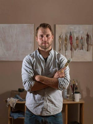 """Above: Blake Willis Tiggeman, a local artist, took top honors in the 2016 Watercolor U.S.A. at the art museum with his painting, """"What I Lost in the Fire."""""""