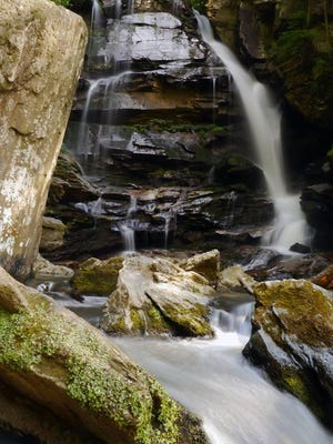 This file photo shows Big Bradley Falls in the Saluda area.