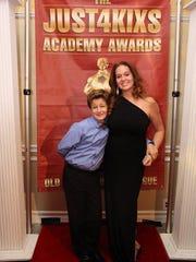 Just4kixs founder Karen Medeiros with son, Maxwell, who won the Oscar for Best Kicker.