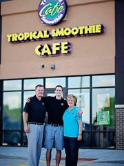 Rick, Ricky and Annette Sandquist opened Tropical Smoothie Cafe in Ankeny.